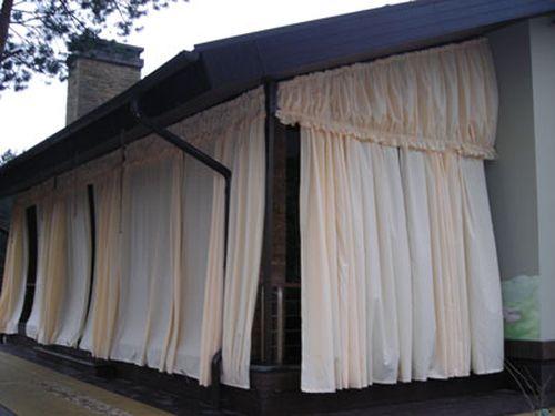 Как сшить шторы своими руками для беседки