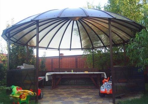 Как сделать крышу из поликарбоната для беседки
