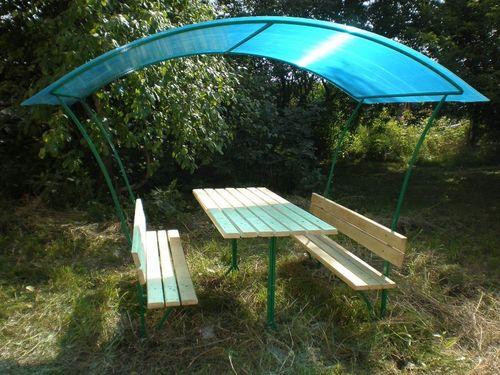 Садовые беседки из металла для дачи: фото идеи