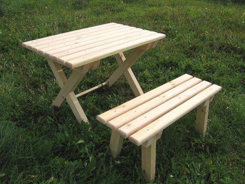 Как сделать стол из дерева в беседку