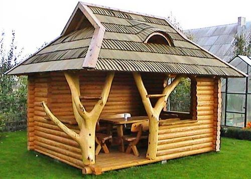 Как выбрать проекты беседок из дерева для постройки