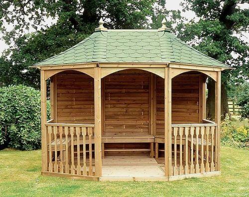 Чем обработать деревянную беседку на даче