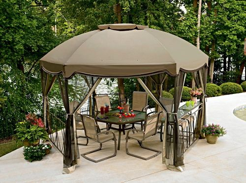 Летняя палатка-беседка для дачи