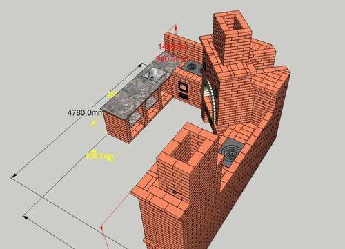 Чертеж строительства мангала и печи