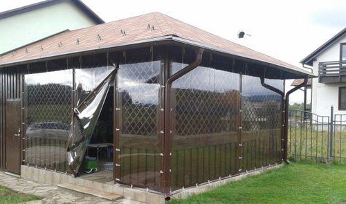 Сплошные шторы пвх